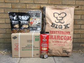 We now stock BIG K, the UKs largest  supplier of Restaurant Grade Charcoal and live fire cooking products.