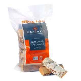 14KG Mega Bag Kiln Dried Birch Pallet of 32 bags 448KG