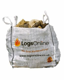 Kiln Dried Mixed Hardwood Firewood Logs Bulk Bag 250kg Ash Oak Birch Mix