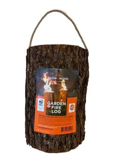 Swedish Torch Garden Fire Log for Instant Multi Function Light & Heat.