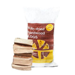 Kiln Dried Ash Firewood Logs Super Bag 22KG