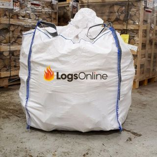 Kiln Dried Birch Firewood Logs Large Bulk Bag 450kg