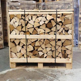Classic Crate Kiln Dried Premium Mixed Hardwood Logs Ash Oak Birch 450KG plus 1 x 4kg Kindling 50 LogLites