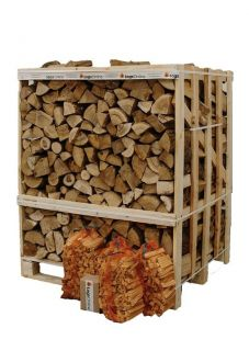 Jumbo Crate Kiln Dried Ash Firewood Logs 3 Nets of Kindling 50 LogLites
