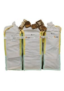 Kiln Dried Birch Firewood Logs Three Barrow Bags